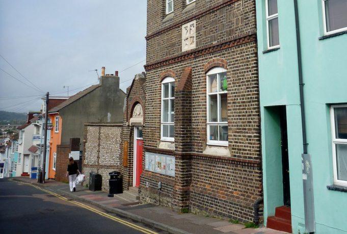 Exterior of modern view of Cobden slipper baths, Hanover, Brighton