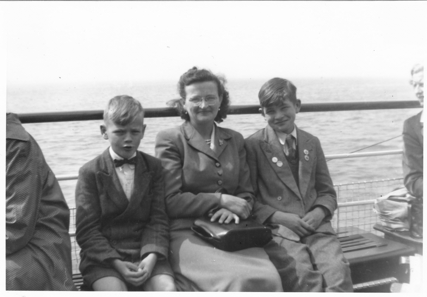 My Mother Evelyn with my brother and I
