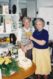 Evelyn & George in 1988 on their Golden Wedding Anniversary | Terry Lockhart