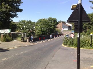 Stock Road looking North after the bridge was removed | Adam Wheatley