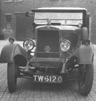 Dr Lovell's Morris Cowley stolen from Billericay. Seen here at Brixton Police station, notice the damage to the mudguard. | Essex Police Museum