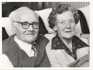 Ernest & Mary Martin on their Diamond Wedding