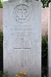Private Humphreys's gravestone | Billericay ATC