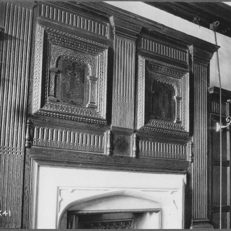 Panelling and Chimney Piece in the West Room of Stockwell Hall.