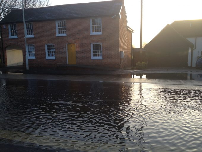 Flooding outsiide Weir Cottages Laindon Road | Claire Morley