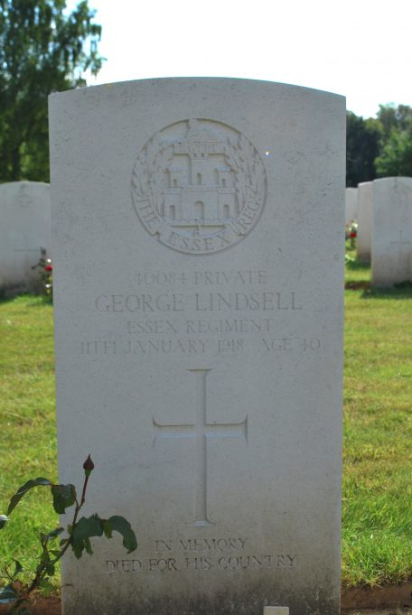 Private Lindsell's gravestone | Billericay ATC