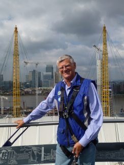 Me today on top of the O2 dome | Terry Lockhart