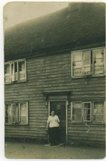 My grandmother outside 36 High Street