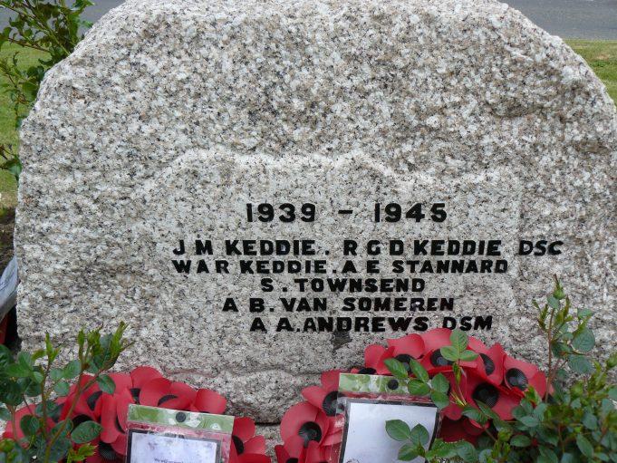 Downham War Memorial - Rear Panel