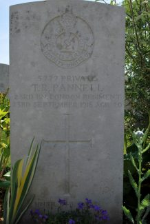 Private Pannell's gravestone | Billericay ATC