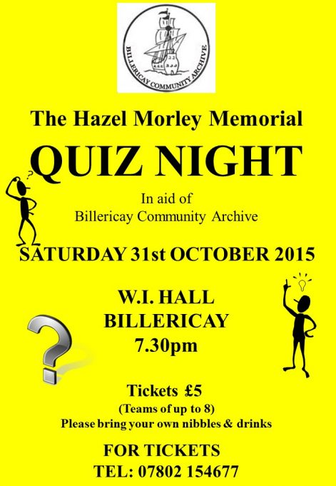 The Hazel Morley Memorial Quiz 2015
