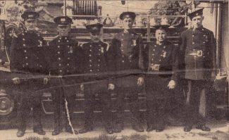 Some of the members of the Billericay Fire Brigade. It is thought this photo may be outside the Sun Street garage   Jim Smith