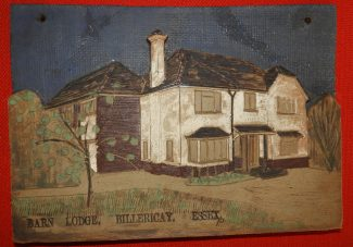 A plaque showing Barn Lodge made by Philip Jaques, a Chelmsford Architect | Susan Barker