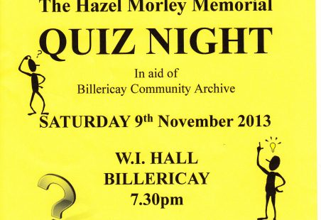 The Hazel Morley Memorial Quiz