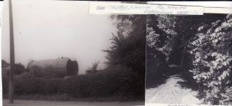 Gasometer in Laindon Road next to Burroughs Lane   Joan Shirmer