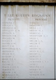 Private Neville's name on the Menin Gate | Billericay ATC