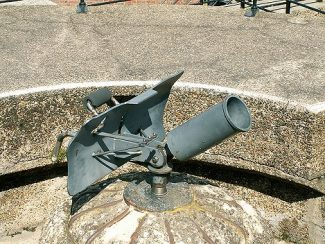 A mortar of a type that could have been fitted to the Norsey Road emplacement