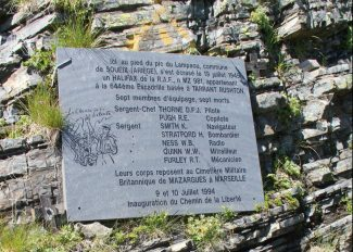 The Memorial at the crash site