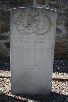 The headstone of Sgt. Stevens