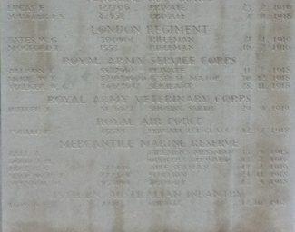 Memorial at St. Mary Magd