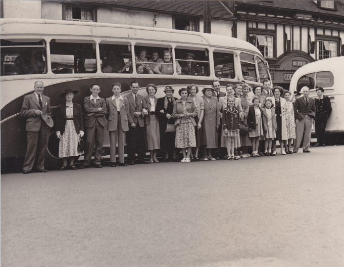 Coaches about to leave from the High Street