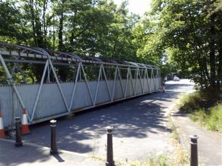 The bridge at the top end of Station Approach waiting to be taken away | Andy Wheatley