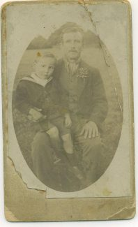 Ernest Martin with his Father George
