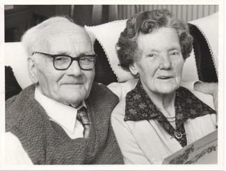 Ernest & Mary Martin on their Diamond Wedding