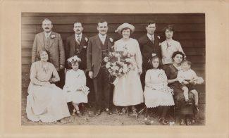Ernest Martin & Mary Elizabeth Cooke on their Wedding Day