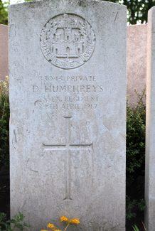 Private Humphreys's gravestone | Billericay ATC