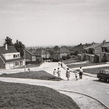 Chantry Way just after the houses were completed | David Twitchett