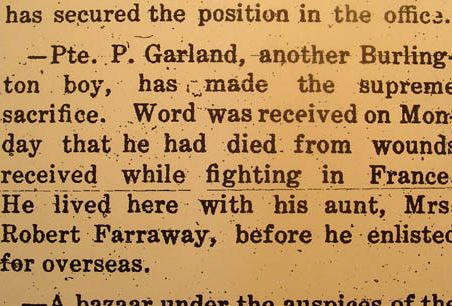Percy Matthews Garland