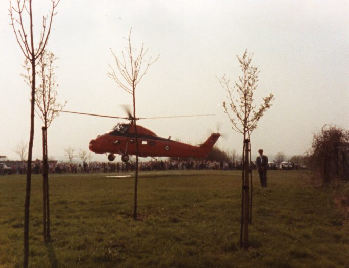 The Royal Helicopter & crowds on Sun Corner | Claire Morley