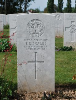Sergeant Scales gravestone | CWGC