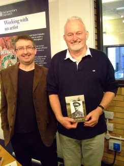 Ted Bailey (right) with Brentwood Weekly News journalist Steve Crancher at the Brentwood Writers' Convention in 2010 | Sylvia Kent