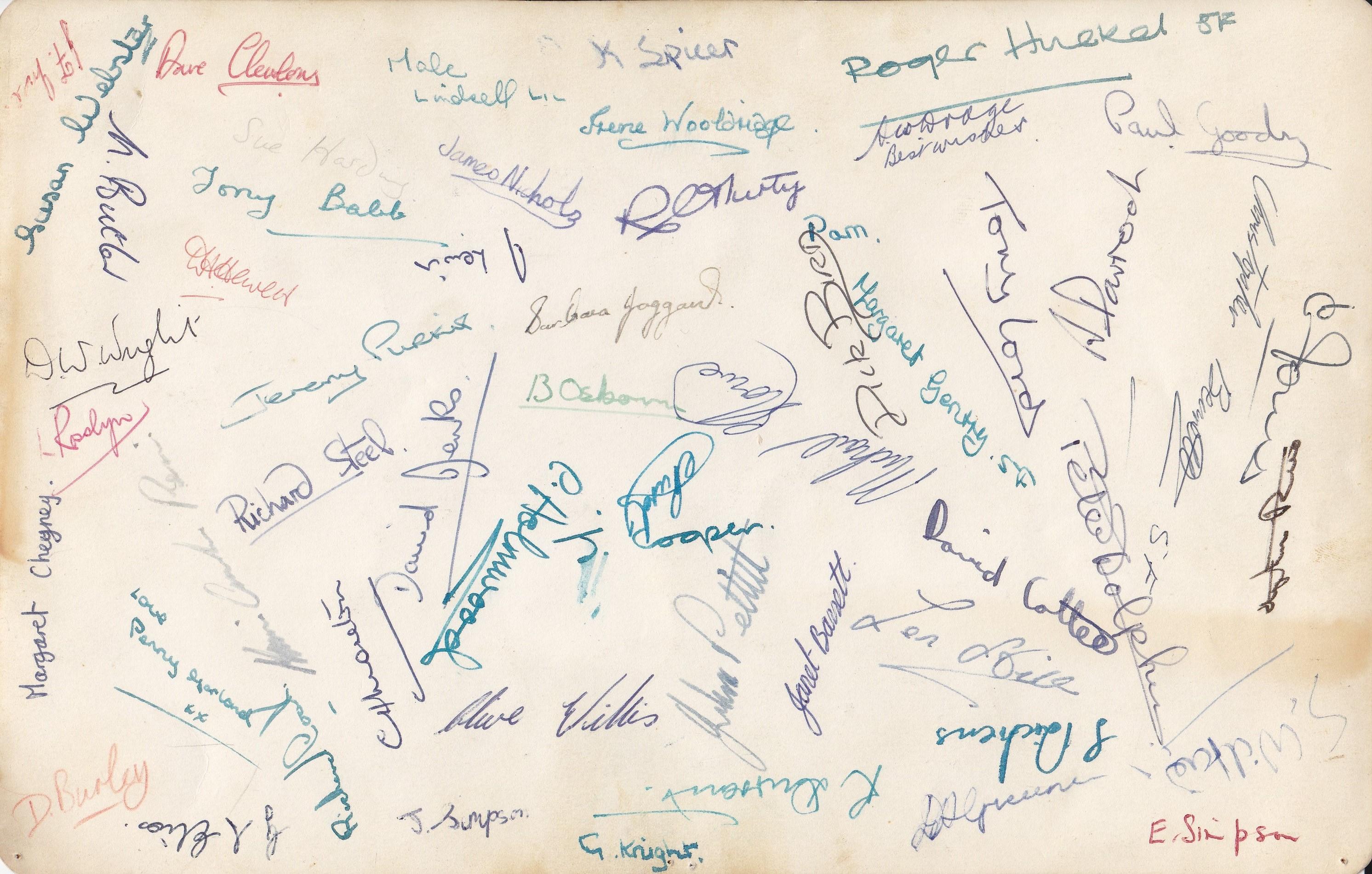 Class 5F 1964 Signatures