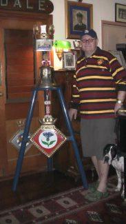 John Hoey with Cattistock's bell | John Hoey