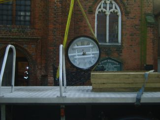 The clock comes off the lorry