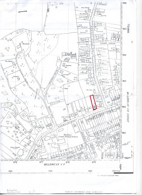 Perry Street/Norsey View Drive   Ordinance Survey