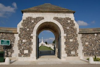 The entrance to the Tyne Cot Memorial | CGWC