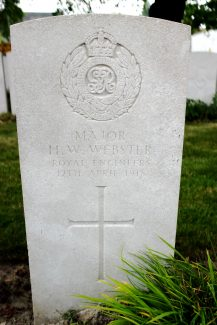 Major Webster's gravestone | Billericay ATC
