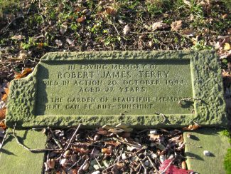 Sgt. Terry's gravestone in Ramsden Crays churchyard | Jim Devlin