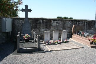 The grave of all six members of the Lancaster crew