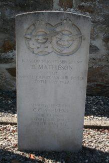 The headstone of Sgt. Stevens