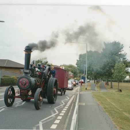 Traction Engine passing South Green