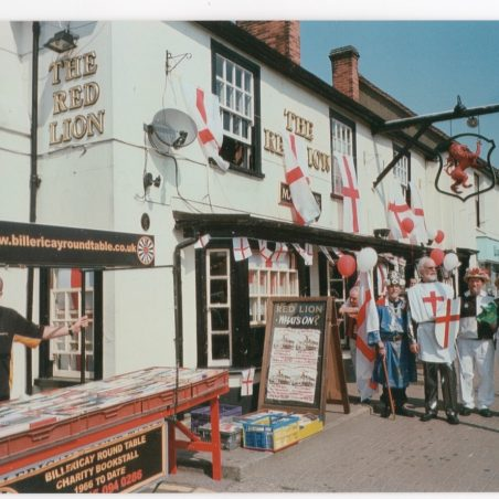 Morris Men & Billericay Round Table book stall outside the Red Lion