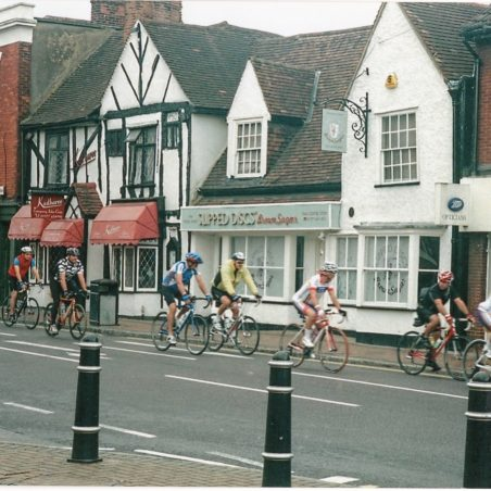 Essex Roads Cycle Club in the High Street