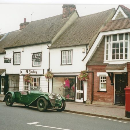 An Alvis Silver Eagle outside the Reading Rooms