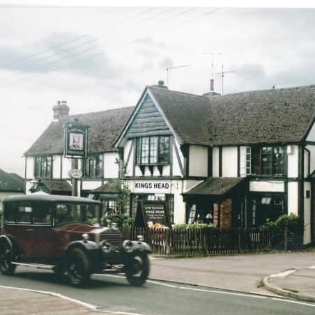 A Rolls Royce passing the Kings Head in Southend Road