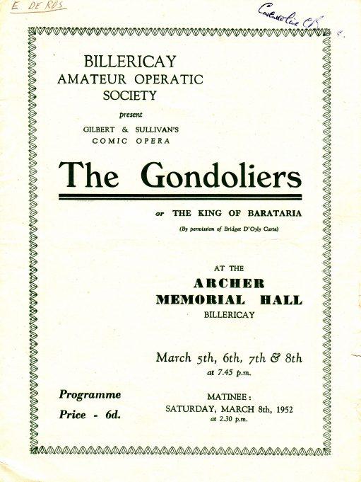 1952 - Gondoliers